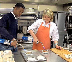 Watch Martha Stewart and AJ Calloway Make Creme Brulee