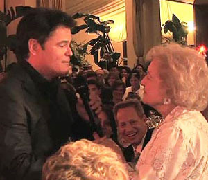 Donny Osmond Serenades Betty White with 'Puppy Love'