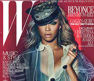 Beyoncé and Christina Aguilera Rock W Magazine