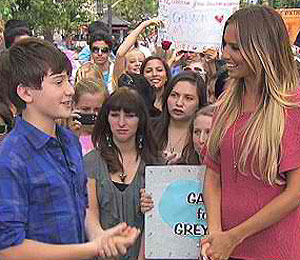 'Extra' Raw! Greyson Chance Mania at The Grove