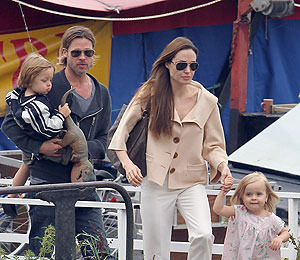 Extra Scoop: Choo-Choo Goes the Jolie-Pitt Crew