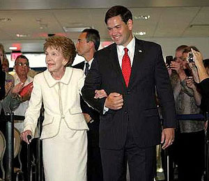 Video! Sen. Marco Rubio Rescues Nancy Reagan from Falling