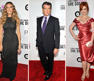 SJP, Brosnan and Hendricks Arrive to 'I Don't Know How She Does It' Premiere