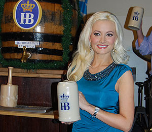Video! Holly Madison Kicks Off Oktoberfest -- Las Vegas Style