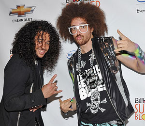 'Extra' Raw! LMFAO Party Rocks It at The Grove