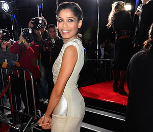 'Extra' Raw! Freida Pinto Talks 3D Butt Scene in 'Immortals'