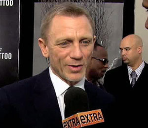 'Extra' Raw! Craig and Mara Shine at 'Dragon Tattoo' Premiere