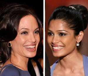 Angelina to 'Slumdog' Freida Pinto: 'Keep It Real'