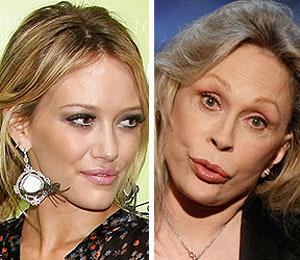 Hilary Duff vs. Faye Dunaway: Catfight!