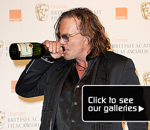 Rourke 'Wrestles' BAFTA Win -- And Celebrates!