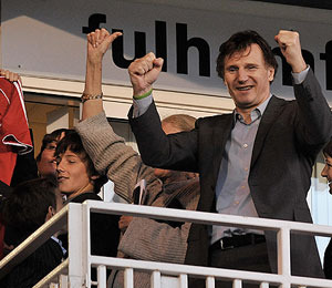 Liam Neeson, Sons Appear at Soccer Game