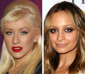 Christina Aguilera and Nicole Richie Ring in 2010 in Las Vegas