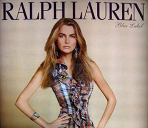 Blog and Ralph Lauren Fight over Thin Model Ad