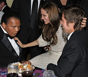Brad, Angelina Party With Muhammad Ali