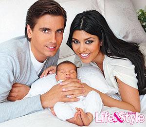 First Photo! Kourtney Kardashian's Baby Boy