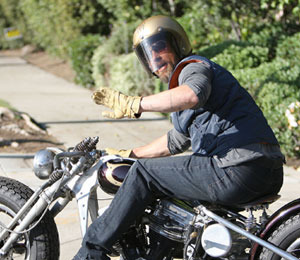Brad Pitt Bails Off His Ride!