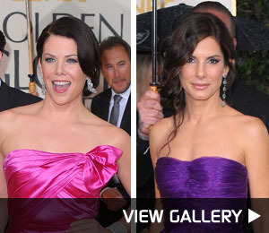 Pink and Purple Reign at the Golden Globes