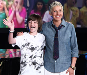 Ellen DeGeneres Launches Record Label, Signs Greyson Chance