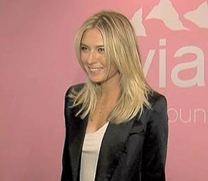 'Extra' Raw: Maria Sharapova Shows Off Her Inner Baby