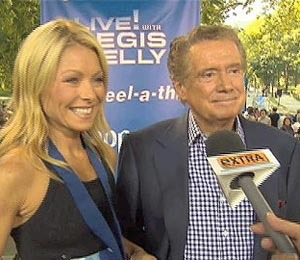 'Extra' Raw: Regis and Kelly's High Heel-A-Thon