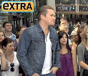 'Extra' Raw! Mark McGrath at The Grove
