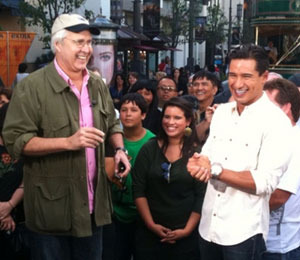 'Extra's' Rapid Fire Quiz with Chevy Chase at The Grove!