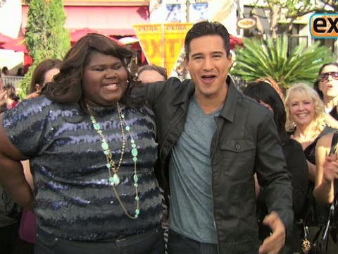 'Extra' Raw! Gabby Sidibe Joins Mario Lopez at The Grove