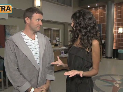 'Extra' Raw: 'Grey's Anatomy' Set Visit with Scott Foley