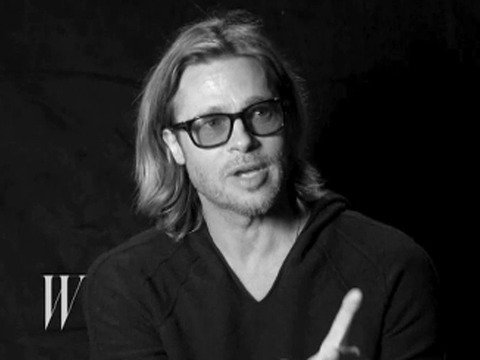 Video! Brad Pitt Talks to W Magazine