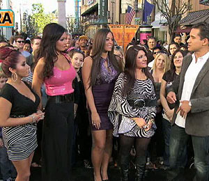 'Extra' Raw! The Babes from 'Jersey Shore' Head to The Grove