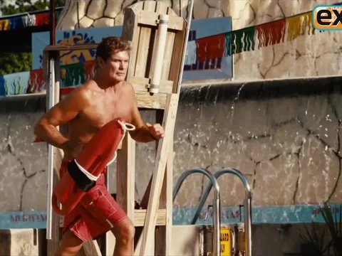 Video! Hasselhoff Returns to Lifeguard Duty in 'Pirahna 3DD'