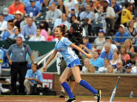 Batter Up! Chrissy Teigen Takes a Swing for MLB All-Star Game