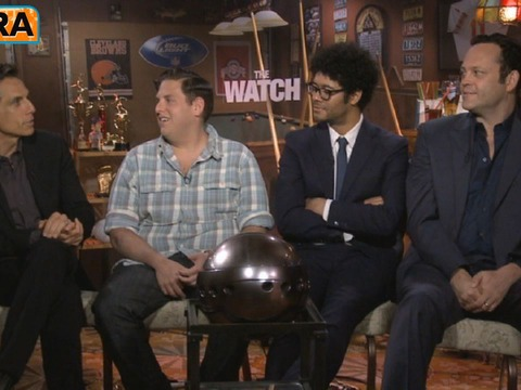 'Extra' Raw! 'The Watch' Cast Cracks Wise