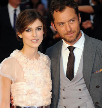 "Keira Knightley and Jude Law attended the London premiere of ""Anna Karenina"" on…"
