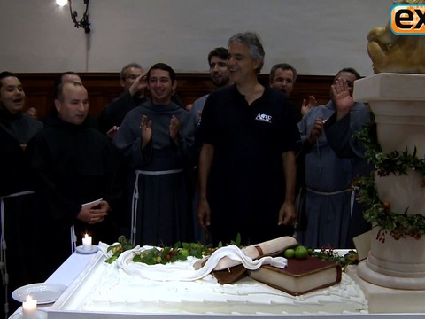 Video! Monks Sing 'Happy Birthday' to Andrea Bocelli