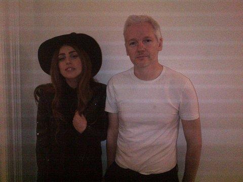 Lady Gaga Visits WikiLeaks Chief Julian Assange