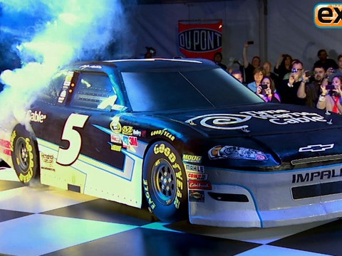 NASCAR Star and 'Ace of Cakes' Designer Unveil Matching Race Cars