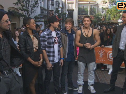 'The X Factor' Top 8 Finalists Invade The Grove