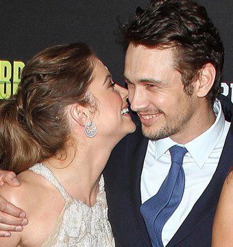 James Franco and Ashley Benson Get Flirty at 'Spring Breakers' Premiere