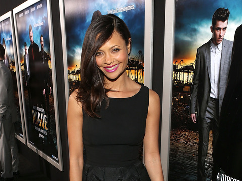 """Thandie Newton attended the L.A. premiere of """"Rogue"""" on Wednesday."""