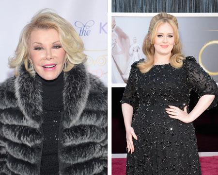 Joan Rivers Slams Adele: 'She's a Chubby Lady Who's Very, Very Rich'
