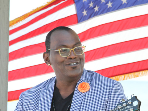 Randy Jackson Visits Air Force Base, Debuts New Guitar Collection