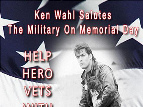 Ken Wahl Supports Veterans on Memorial Day