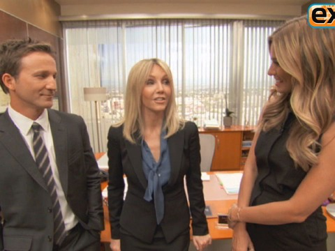 On the 'Franklin & Bash' Set with Heather Locklear