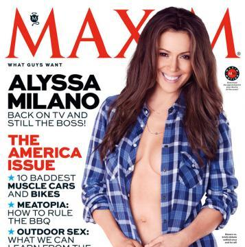 Alyssa Milano: Braless and Back on TV