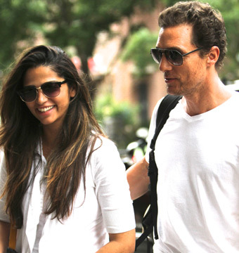 Camila Alves and Matthew McConaughey enjoyed a day out in NYC.