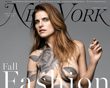Lake Bell Naked and Tattooed on NY Mag Cover