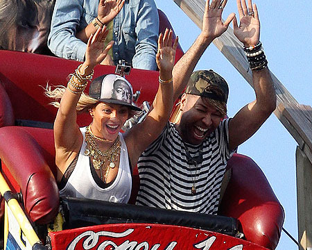 Beyonce rides The Coney Island Cyclone for her latest music video.