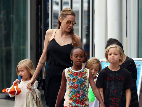 Angelina Jolie took Shiloh, Pax, Vivienne, Zahara and Knox to an aquarium in…