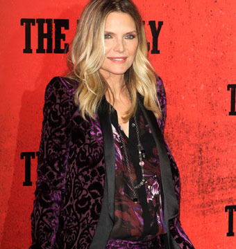 "Michelle Pfeiffer hit the red carpet at ""The Family"" premiere in NYC on Tuesday."